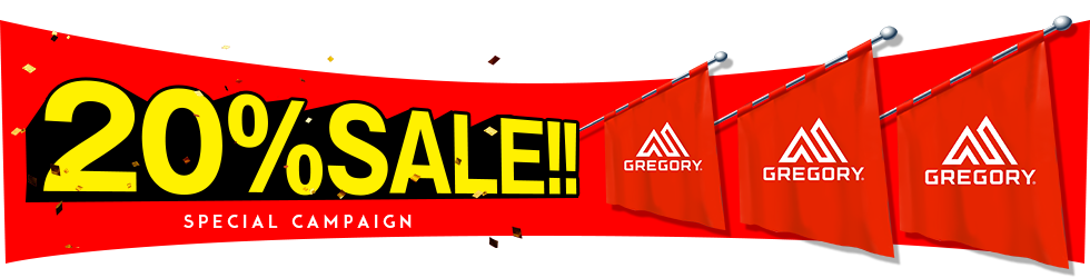 GREGORY /20%OFF
